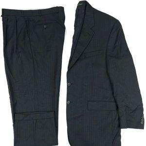 Ralph Lauren 2 Piece Suit Size 44L Striped 36x30